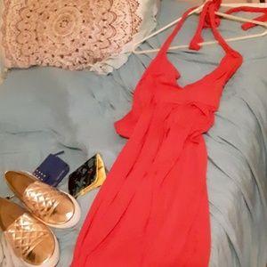 Maxi dress hot pink